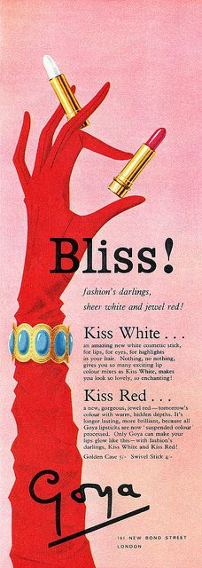 1959 Goya Lipstick ad by totallymystified, via Flickr | The House of Beccaria