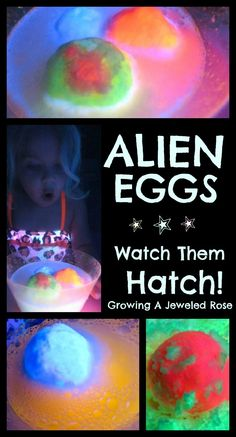 Alien eggs & other fun space activities for kids!- I chose this because this is a fun activity that kids would be excited to do. Space Activities For Kids, Educational Activities For Kids, Science Activities, Science Projects, Summer Activities, Science Experiments, Crafts For Kids, Preschool Ideas, Eid Crafts