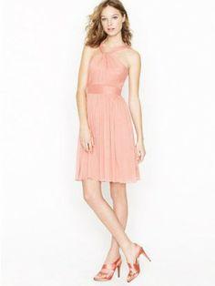 Graceful A-line Straps Ruffles Sleeveless Short Chiffon Bridesmaid Dresses