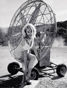 Abbie Cornish and a Giant Fan by Cedric Buchet for Porter #2 Summer 2014