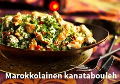 Marokkolainen kanatabouleh Resepti:Kariniemen #kauppahalli24 #ruoka #resepti #kanatabouleh