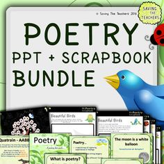 Spring Poetry Scrapbook and PowerPoint Bundle. A refreshing and fun poetry unit.
