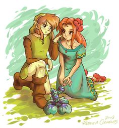 Link and Marin by KinokoFry R. Clement (2008)