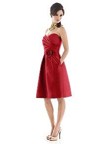 Alfred Sung Style D498    #red #bridesmaid #dresses