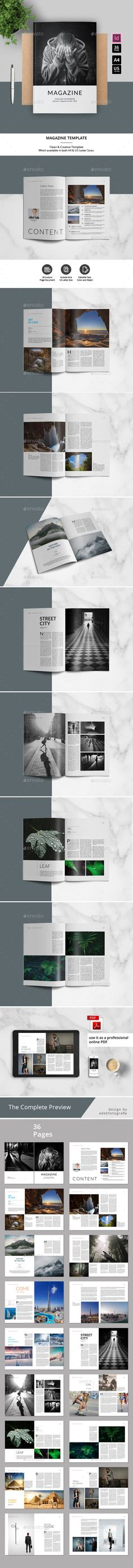 Magazine Template — InDesign INDD #magazine template #8.5x11 • Download ➝ https://graphicriver.net/item/magazine-template/19453130?ref=pxcr