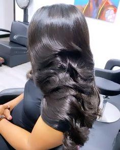 Baddie Hairstyles, Weave Hairstyles, Pretty Hairstyles, Love Hair, Gorgeous Hair, Curly Hair Styles, Natural Hair Styles, Ponytail Styles, Hair Laid