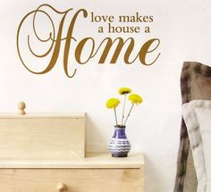 Wall Quotes Gold Foil Peel And Stick Wall Decals Love House Home New - keywebco - 1