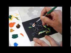 【トールペイント】描き方⑤ナルシス How to draw Narcisse