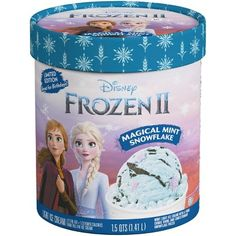 Frozen Magical Mint Snowflake Ice Cream Is Icy Blue and Topped With Purple Sprinkles Geek Birthday, Superhero Birthday Cake, Star Wars Birthday, Birthday Cakes, Protein Ice Cream, Ice Cream 1, Disney Frozen Cake, Frozen Movie, Snowflake Lights