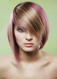 Asimetris.....blonde n pink