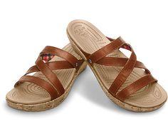 Crocs™ Women's A-Leigh Mini Wedge Leather | Comfortable Women's Cork Wedge Sandal | Crocs Official Site