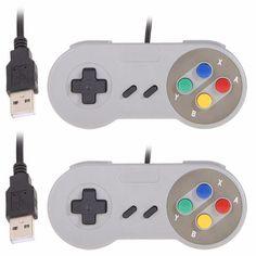 Super Game Controller SNES USB Classic Gamepad for PC MAC Games