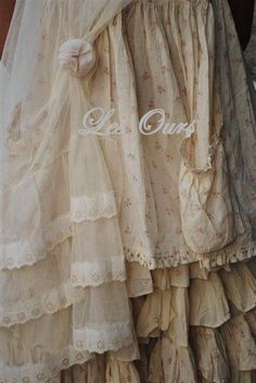 layers of thin cotton voile... very French, very feminine