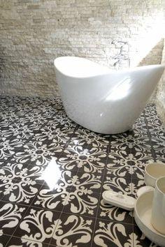 Cement tiles Bathroom. Sadus tiles motif K-80