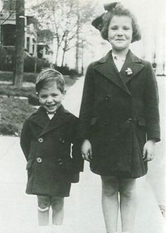 Leonard Cohen and his sister Esther, circa 1938. Photo from: moreintelligentlife.com