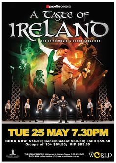 The World Theatre - Charters Towers: TASTE OF IRELAND [LIVE] 2021 tour World Theatre, Lord Of The Dance, Vip Tickets, Irish Dance, Folk Music, New Set, Upcoming Events, Towers, Ireland