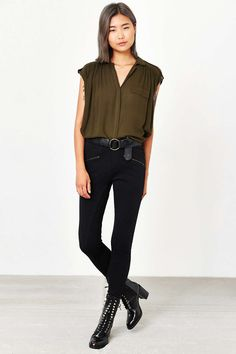 Silence + Noise Epaulet Tunic Top - Urban Outfitters