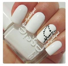 Rosary nails but sub the white for nude and no acrylics! Gel nails would look great.