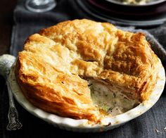 From the buttery, flakey pastry to the creamy chicken and vegetable filling, a chicken pie makes the perfect winter lunch or dinner. If you don't already have a tried-and-tested recipe, add this classic country chicken pie to your repertoire. Chicken And Leak Pie, Creamy Chicken, Pie Recipes, Chicken Recipes, Chicken Meals, Recipies, Quiche Recipes, Savoury Recipes, Pastry Recipes