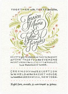 Wedding Invitation by Kelly Thorn