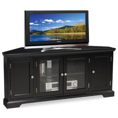 Leick Slate Black TV Stand & Reviews | Wayfair