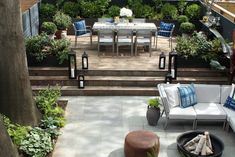 Screenshot: Manscapers: 5 Tips for Designing a City Garden, from an Of-the-Moment Landscape Design Firm - Gardenista Urban Garden Design, Herb Garden Design, Garden Ideas, Patio Ideas, Outdoor Planters, Outdoor Decor, Outdoor Dining, Indoor Tropical Plants, Landscaping Company