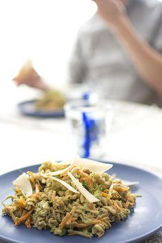 Pastasallad med kyckling och pesto