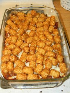 Growing to Four: Pizza Tot Casserole