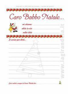 Letterine di Babbo Natale da stampare