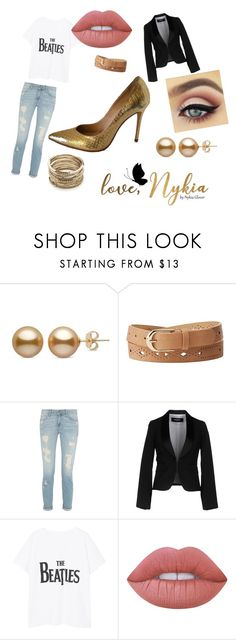 """""""Gold flair"""" by taylorglover9 on Polyvore featuring Charlotte Russe, Dsquared2, Violeta by Mango, Lime Crime and Sole Society"""