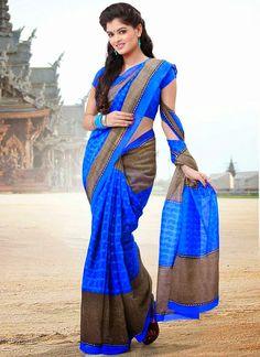 Style2klik.blogspot: Newest Fashion Cbazaar Indian Cotton Silk Saree Collection 2015