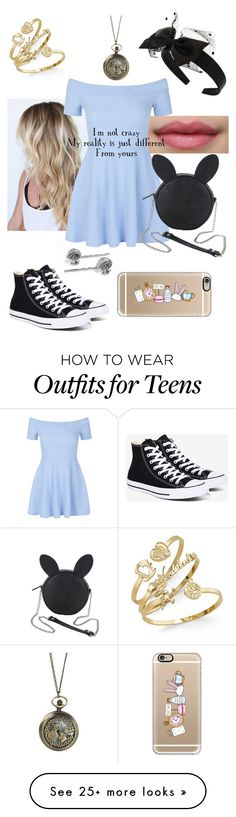 """""""Modern Day Alice"""" by sofi0903 on Polyvore featuring New Look, Converse, Casetify, Disney, Miss Selfridge and modern"""