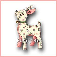 Vintage Stuffed Animal Pattern~ Deer, Rudolph, Reindeer