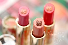 Paul & Joe Fall 2015 Lipstick CS (three new limited edition shades, $20 each)