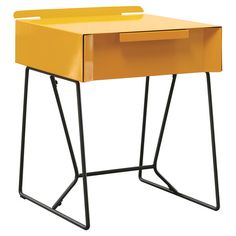 Found it at AllModern - Soft Modern End Table in Yellowhttp://www.allmodern.com/deals-and-design-ideas/p/Industrial-Chic-Suite-Soft-Modern-End-Table-in-Yellow~SAU2048~E14580.html?refid=SBP.rBAZEVQ-l9CfrC5EG_tTAtxktrFyxkdBo73shXY6pb4