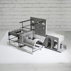 Reconciling Infrastructural Artifacts project by Roberto Boettger. - Reconciling Infrastructural Artifacts project by Roberto Boettger. Featured in the Hidden issue of - Conceptual Model Architecture, Architecture Drawings, Concept Architecture, Interior Architecture, Interior Design, Architecture Collage, Structural Model, Design Patio, Concrete Sculpture
