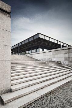 scandinaviancollectors:  Neue National Gallerie in Berlin by Mies van der Rohe, completed 1968. / Flickr