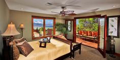 Kula Upcountry Estate  ( Maui, Hawaii )  #Jetsetter   For added privacy, bag the upstairs master bedroom, with an office and private lanai.