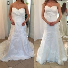 335b323892a Before and after on fully resized sample wedding gown Dress Alterations