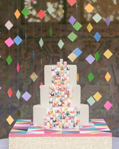 Bright colorful and fun! If you are looking for unique and fun details to make your wedding truly yours @everylastdetailblog is a must follow! We are obsessed with this cake by @thesugarsuite in this shoot from @amalieorrangephotography and @emilygracedesign on Every Last Detail! #aislesociety #aislesocietydebut #weddingblogsunite by aislesociety