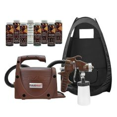 Maxi-Mist PRO Sunless Spray Tanning KIT TENT Machine Airbrush Tan MaxiMist BLK by MaxiMist. Save 21 Off!. $449.00. We Take Spray Tanning Seriously... When you are ready for the professional's choice for spray tanning equipment, you want to look at the Maxi Mist PRO professional series. We have put together a full kit for you with a great combination of equipment, spare parts, and even the solution to get you started and earning money! Maxi-Mist PRO FeaturesTurbine Power House 550 Watt 55…