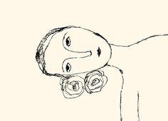 The Flower Listener ~ iris schwarz • Etsy