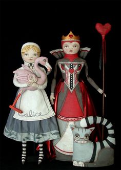 *ALICE, THE QUEEN of HEARTS & THE CHESHIRE CAT ~