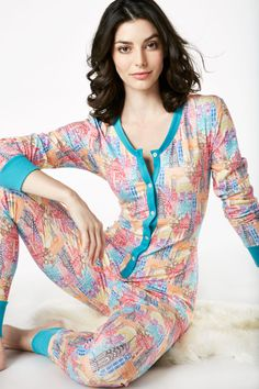 6023726968 Multi Wonders of the World Stretch Onesie 1221-S-2530 Cotton Sleepwear