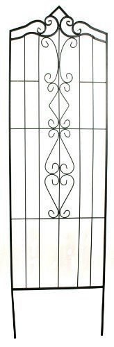 River Cottage Gardens TR976-82 82-Inch Bronze Finial Wrought Iron Trellis by…