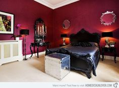 We Are Not Sure About You But Think This Bedroom Is Fit For Gothic Romance The Lighting Simple Creates Drama All Want To Active In A