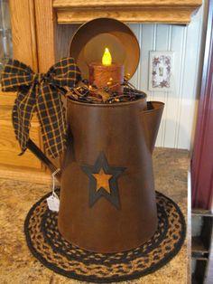 Huge Coffee Pot Candle