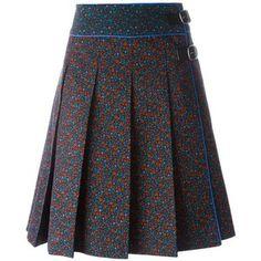 Coach floral print midi skirt