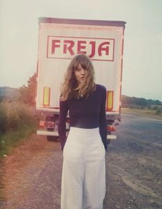 """Shore Leave"", Freja Beha Erichsen photographed by Cass Bird in..."