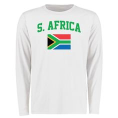 South Africa Flag Long Sleeve T-Shirt - White